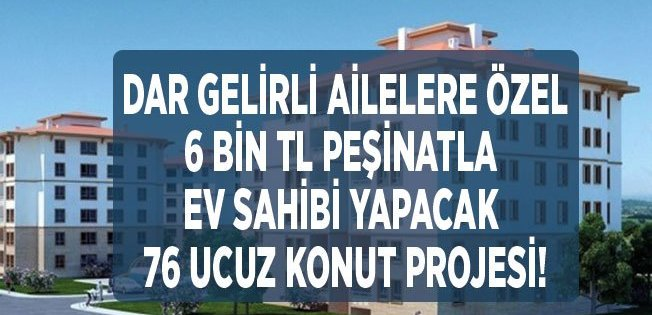 Erzurum'da TOKİ 6 Bin TL Peşinatla Ev Sahibi Yapacak!