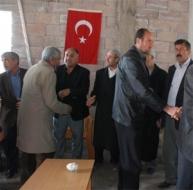 Taziye evinde Türk bayrağı