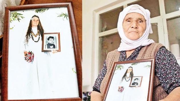 Ölümsüz aşkın fotoğrafı! 75 yaşında gelinlik giyip düğün fotoğrafı çektirdi
