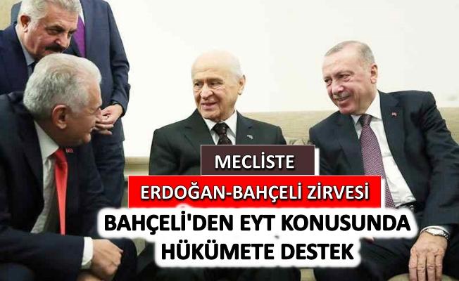 Meclis'te Erdoğan-Bahçeli zirvesi
