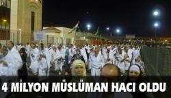4 milyon Müslüman hacı oldu!