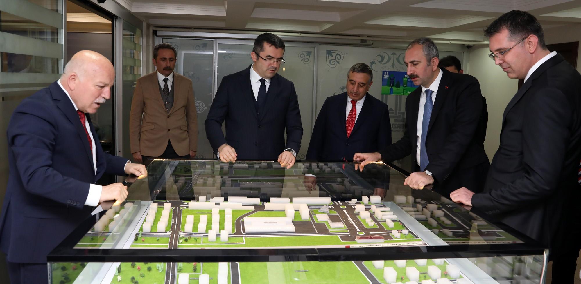Adalet Bakanı Gül'den Büyükşehir'e ziyaret