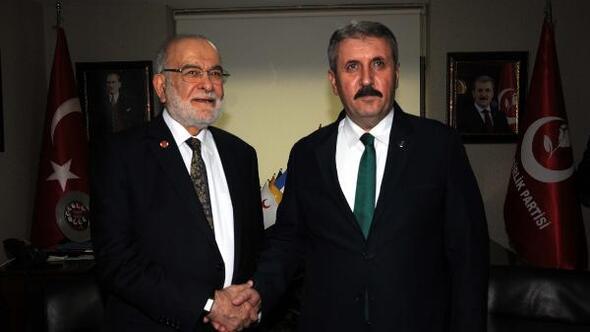 BBP lideri Mustafa Destici ve Saadet Partisi lideri Temel Karamollaoğlu'ndan asgari ücret açıklaması