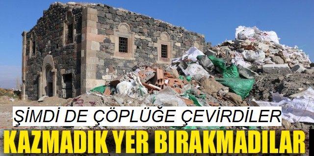 Erzurum'da Tarihi Kilise Çöplerin Arasında Kaldı