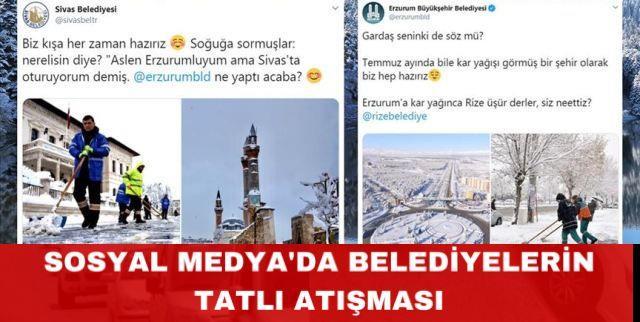 Belediyelerin sosyal medyada kar ve soğuk hava atışması