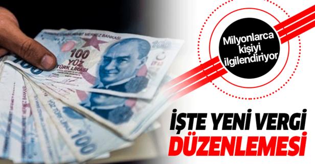 Yeni vergi düzenlemesine ilişkin kanun Resmi Gazete'de.