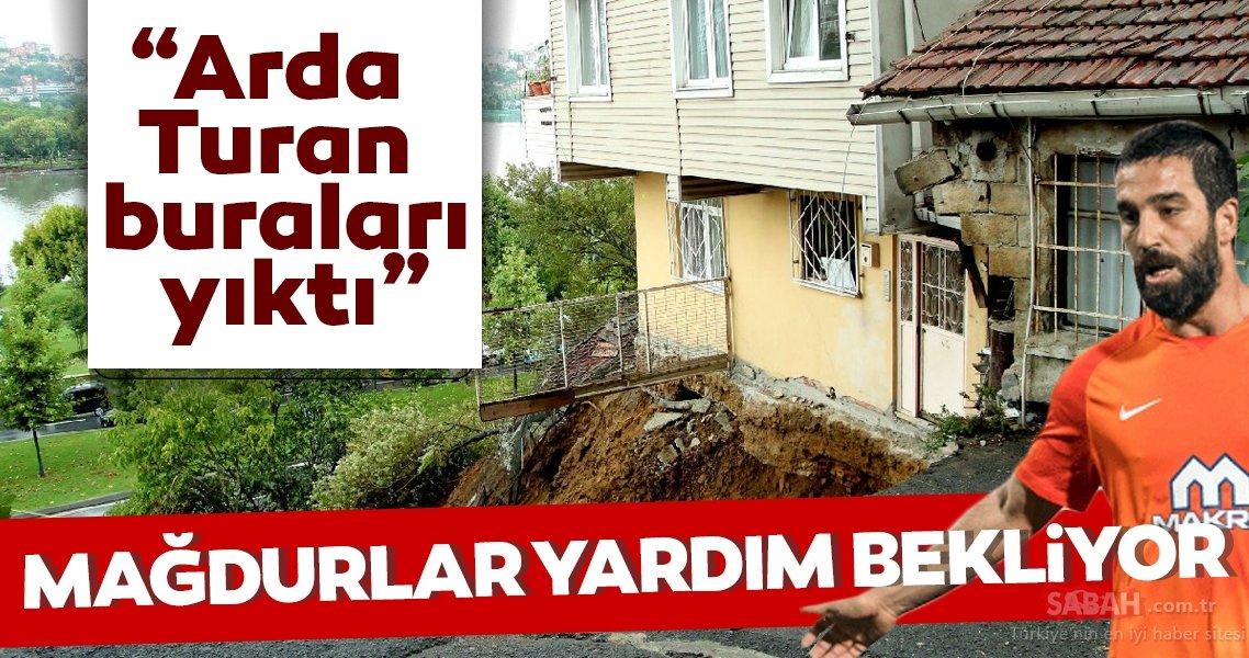 """Yıkılma tehlikesine rağmen o evlerde yaşıyorlar... """"Arda Turan buraları yıktı"""""""
