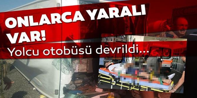 Erzincan- Erzurum kara yolunda otobüs kazası: Çok sayıda yaralı var
