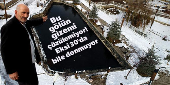 Erzurum'da gizemli göl: Donmuyor