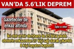 Erzurum'dan Van'a yardım sürüyor