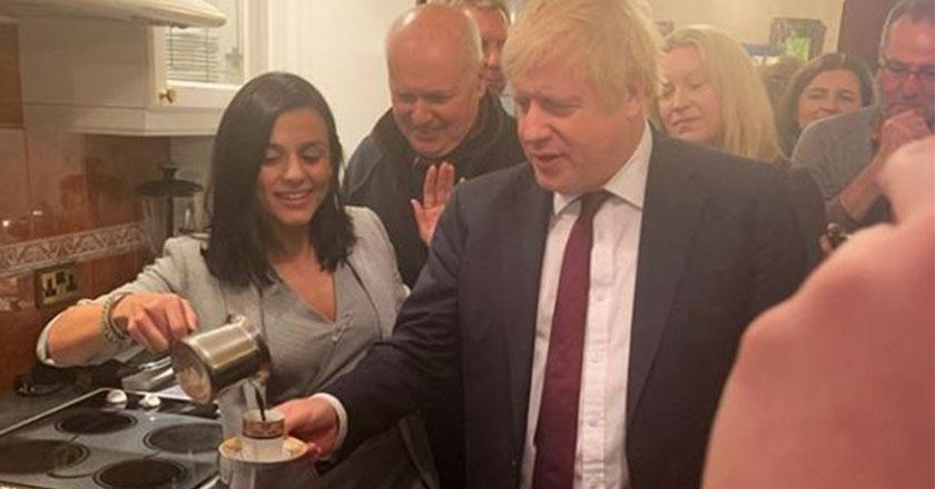 Eylem ve Boris Johnson kahvenin tadını böyle çıkardı!