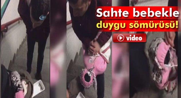 İstanbul'da sahte bebekle dilenen dilenci zabıtaları şoke etti