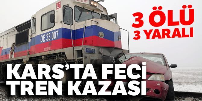 Kars'ta tren kazası: 3 ölü, 3 yaralı