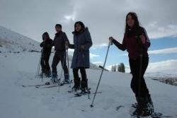 Erzurum'da kayak sezonunu açtılar