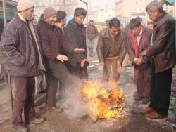 Erzurum'da donduran soğuklar!