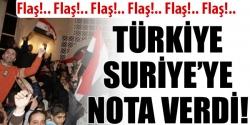 Türkiye'den Suriye'ye nota