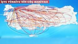 İşte Türkiye'nin göç haritası!