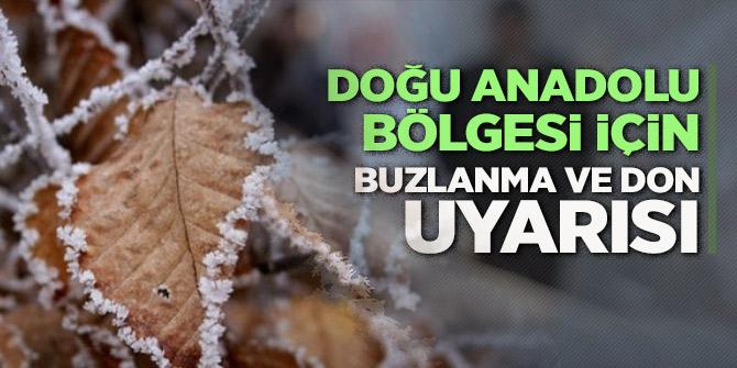 Doğu Anadolu'da buzlanma, don ve sis uyarısı