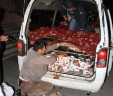 Ezincan'da kaçak sigara yakalandı