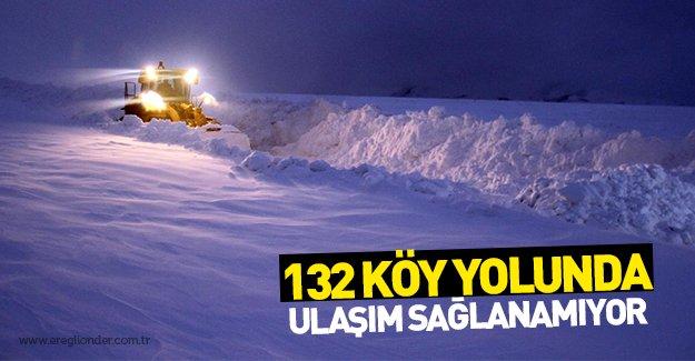 3 ilde, 132 köy ve mahalle yolu kar nedeniyle ulaşıma kapalı