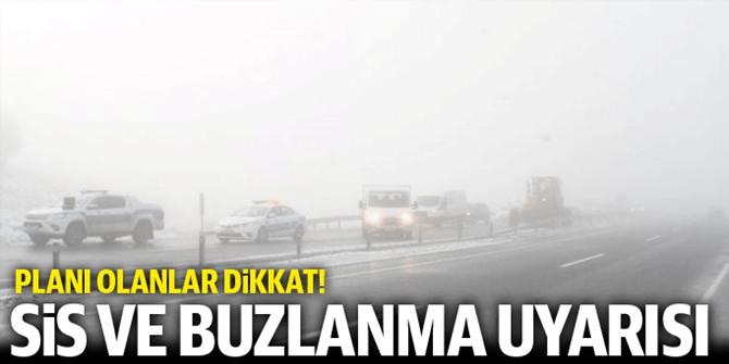 Doğu Anadolu'da buzlanma, don ve sis bekleniyor