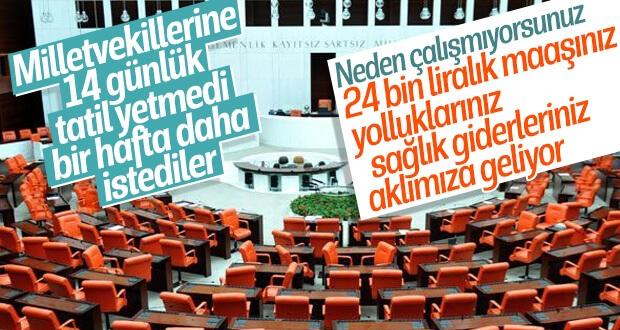 Milletvekilleri yine tatil yapmak istiyor