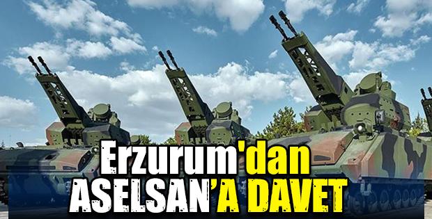 Erzurum'dan ASELSAN'A DAVET