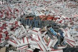 Erzurum'da 23 bin paket yakalandı
