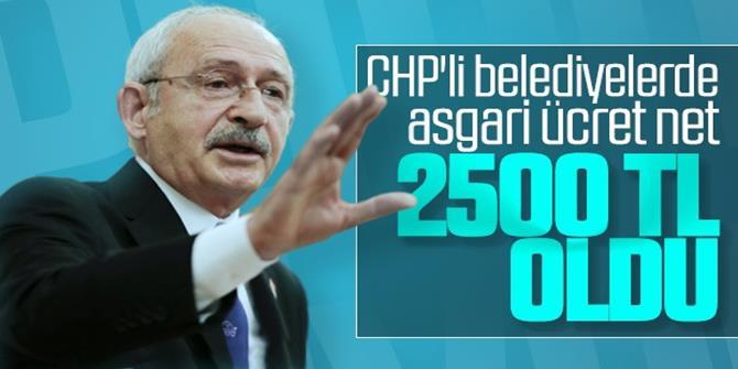 CHP'li belediyelerde 2020 asgari ücret belli oldu