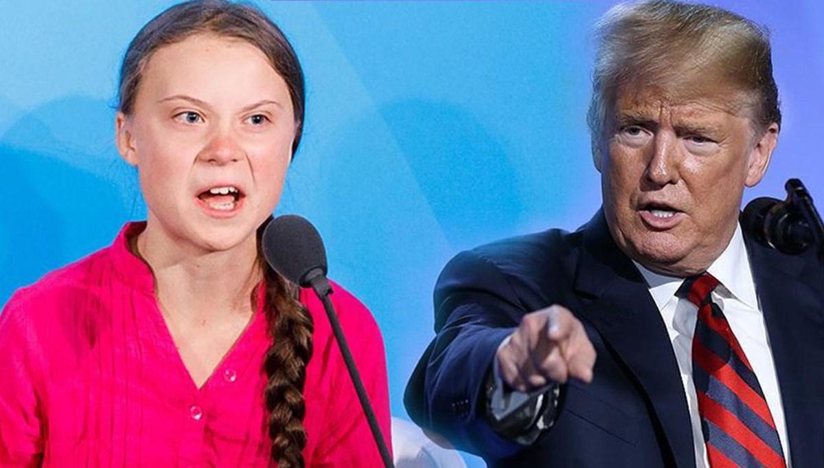 Trump ile Greta Thungerg'in tartışması gündem oldu