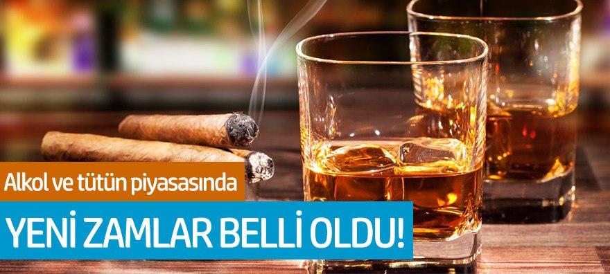 Alkol ve tütün piyasasında yeni zamlar belli oldu!