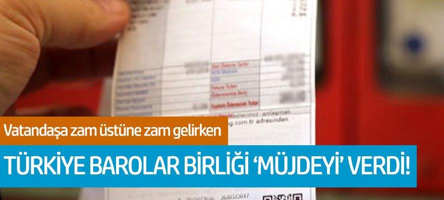 Türkiye Barolar Birliği'nden indirimli elektrik açıklaması