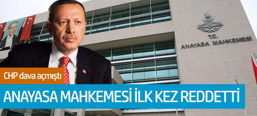 AYM'den Erdoğan'a ilk iptal!