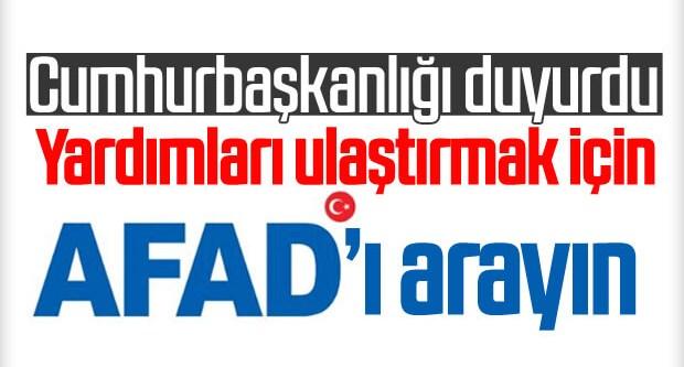 Deprem yardımları AFAD koordinesinde ulaştırılacak