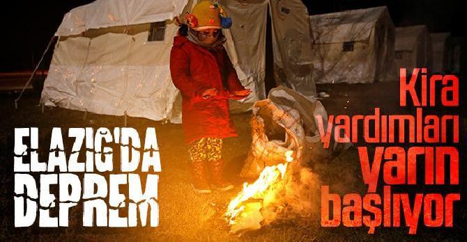 Elazığ ve Malatya'daki hasarlı evler için kira yardımı