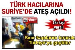Türk hacı konvoyuna ateş açıldı