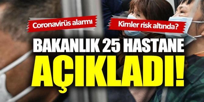 Bakanlık 25 hastane açıkladı: Erzurum'da var...