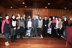Kazak öğrenciler Erzurum'da