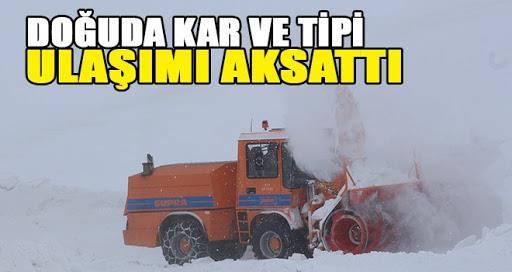 Erzurum-İspir kara yolu güçlükle ulaşıma açıldı