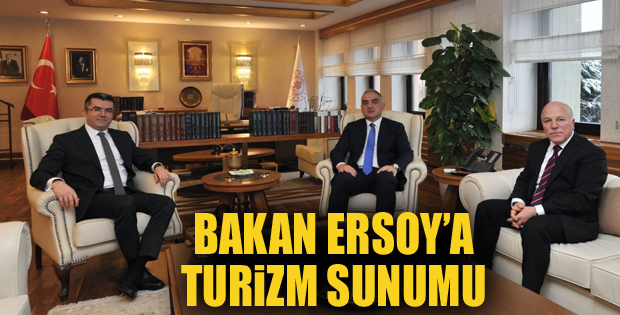 Bakan Ersoy'a Erzurum ile ilgili turizm sunumu