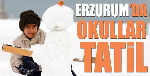 Erzurum'da 20 ilçede eğitime 1 gün ara verildi