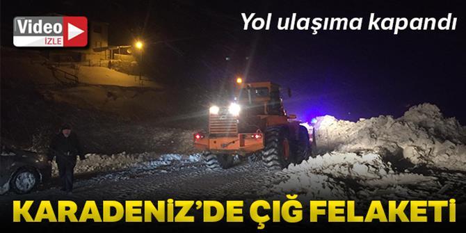 Trabzon-Gümüşhane kara yoluna çığ düştü