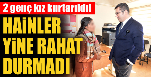 Erzurum'da teröristler 2 genç kızı dağa kaçırırken yakalandı