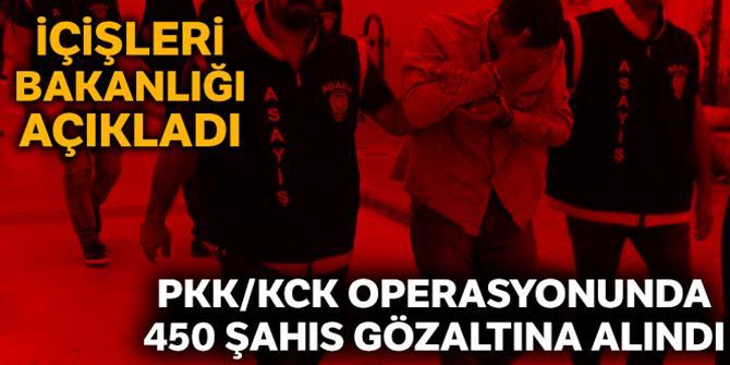 37 ilde PKK/KCK operasyonu: 450 gözaltı