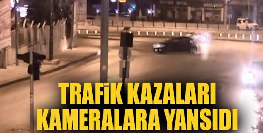 Erzurum'da kontrolden çıkan araç işyerine daldı