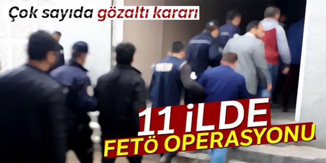 11 ilde FETÖ operasyonu: 16 gözaltı kararı