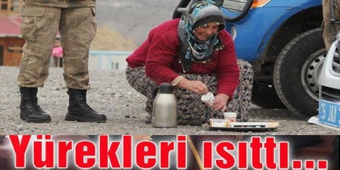 Erzurum'da yürekleri ısıtan ikram!
