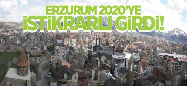 Erzurum 2020'ye İstikrarlı Girdi