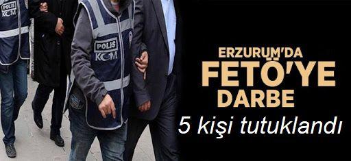 FETÖ/PDY operasyonunda 5 zanlı tutuklandı