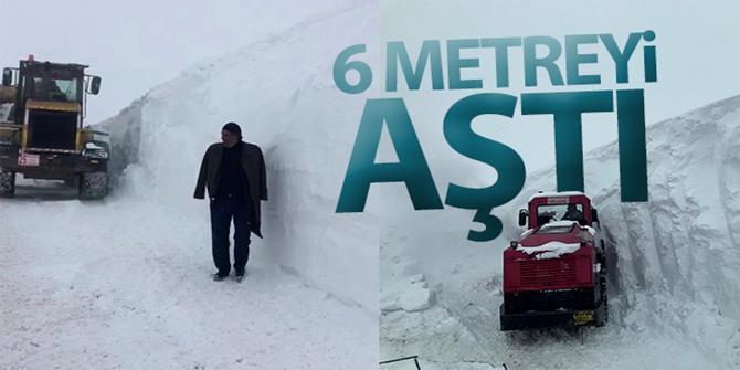 Erzurum'da Kar kalınlığı 6 metreyi aştı